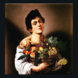 "Caravaggio Boy With a Basket of Fruit Photo Print<br><div class=""desc"">Caravaggio Boy with a Basket of Fruit print. Oil painting on canvas from 1593. One of Caravaggio's most famous paintings, Boy with a Basket of Fruit features a handsome young man holding a wicker basket full of peaches, pears, grapes, apples and figs. A great gift for fans of Caravaggio, Baroque...</div>"