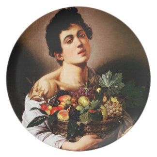 Caravaggio Boy With a Basket of Fruit Plate