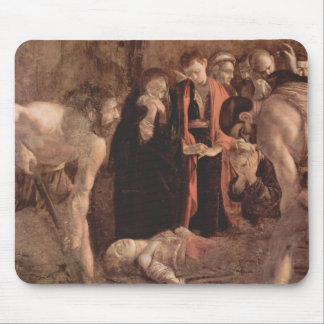 Caravaggio- Burial of Saint Lucy Mouse Pad