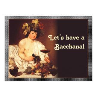 Caravaggio CC0202 Bacchanal Invitation Personalized Invite