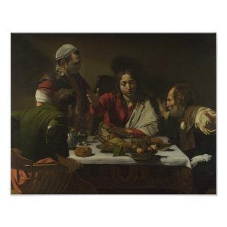 Caravaggio - cena en Emmaus Cojinete