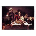 Caravaggio - cena en Emmaus Felicitacion