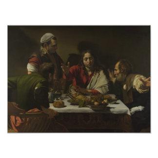 Caravaggio - cena en Emmaus Fotografías
