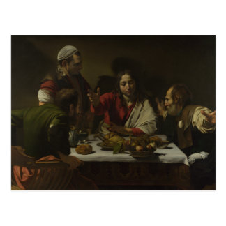 Caravaggio - cena en Emmaus Tarjetas Postales