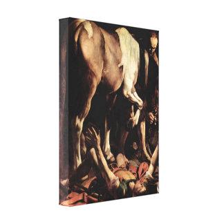 Caravaggio - conversión de Saul Lienzo Envuelto Para Galerias