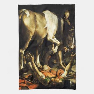 Caravaggio Conversion of St. Paul Kitchen Towel
