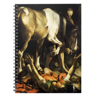 Caravaggio Conversion of St. Paul Note Book