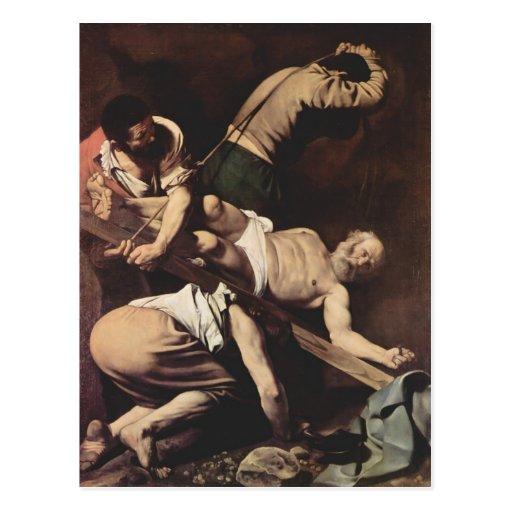 Caravaggio- Crucifixion of Saint Peter Post Card