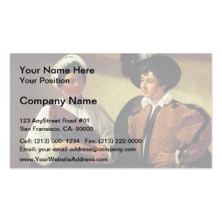 Caravaggio- el adivino tarjetas de visita