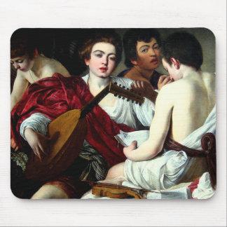 Caravaggio el cojín de ratón de los músicos alfombrilla de raton