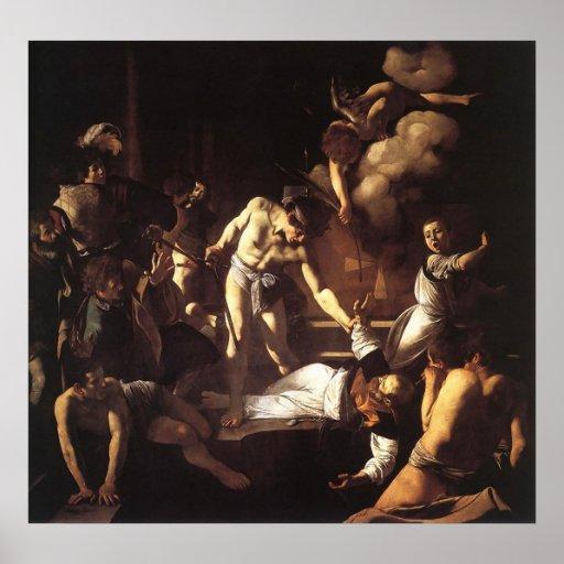 Caravaggio el martirio de St Matthew Poster