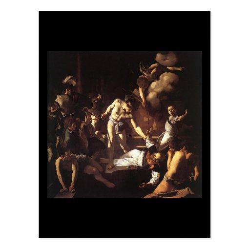 Caravaggio el martirio de St Matthew Tarjetas Postales