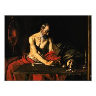 Caravaggio - escritura de Jerome del santo Cojinete