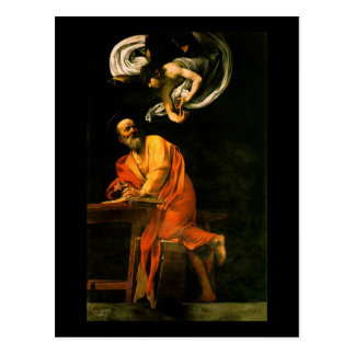 Caravaggio la inspiración de St Matthew Postal