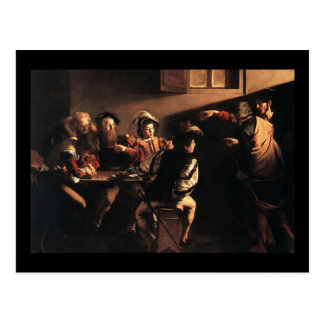 Caravaggio la llamada de St Matthew Postal