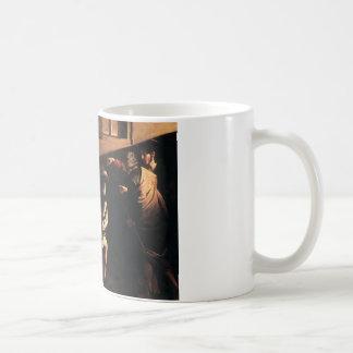 Caravaggio la llamada de St Matthew Taza