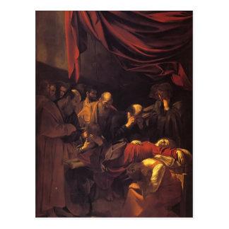 Caravaggio- la muerte de la Virgen Tarjetas Postales