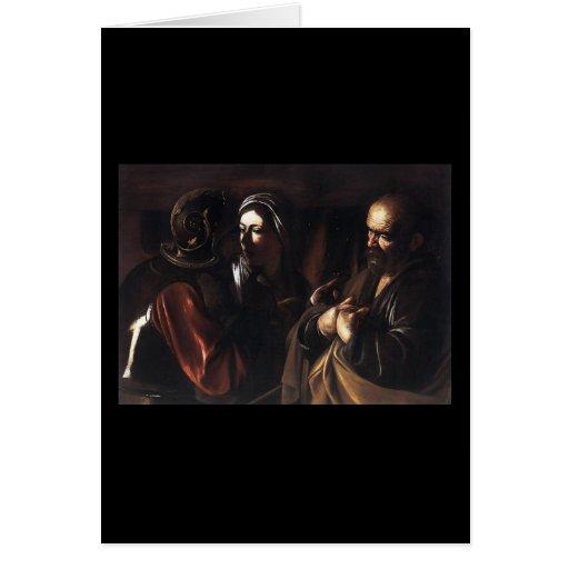 Caravaggio la negación de San Pedro Tarjeta