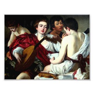 Caravaggio los músicos cojinete