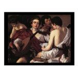 Caravaggio los músicos tarjeta postal