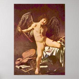 Caravaggio-Love as the winner Poster