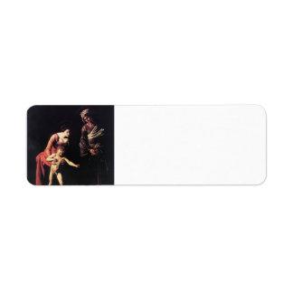 Caravaggio- Madonna and Child with St. Anne Return Address Label