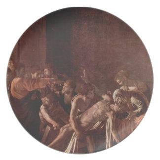 Caravaggio- Resurrection of Lazarus Party Plates