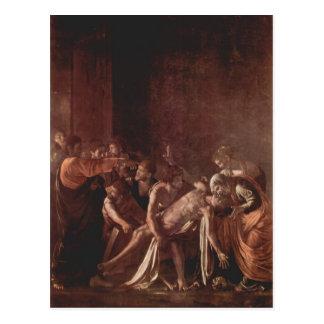 Caravaggio- Resurrection of Lazarus Post Card