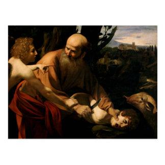 Caravaggio - sacrificio de Isaac Tarjetas Postales