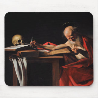 Caravaggio - Saint Jerome Writing Mouse Pad