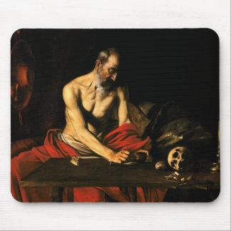 Caravaggio - Saint Jerome Writing Mouse Pad