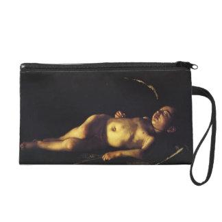 Caravaggio- Sleeping Cupid Wristlet Clutches