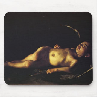 Caravaggio- Sleeping Cupid Mouse Pad