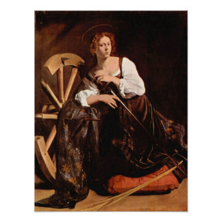 Caravaggio-St. Catherine of Alexandria Poster
