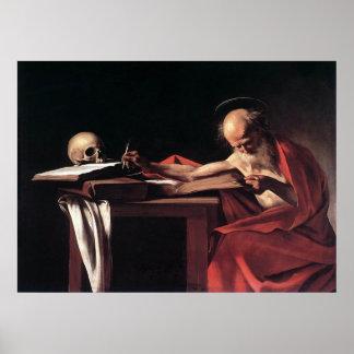 Caravaggio St Jerome Poster