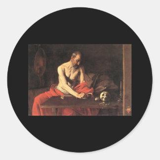 Caravaggio St Jerome Sticker