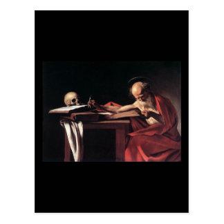 Caravaggio St Jerome Tarjeta Postal