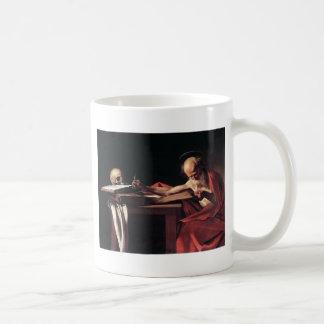 Caravaggio St Jerome Taza
