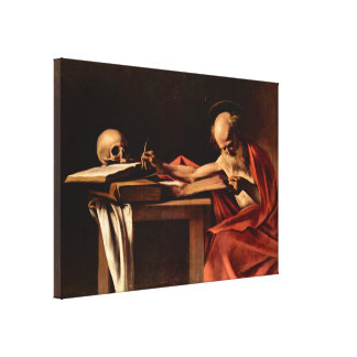 Caravaggio - St Jerome while writing Canvas Print
