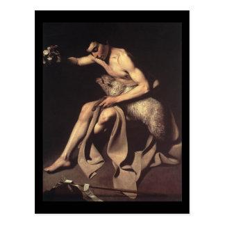 Caravaggio St John The Baptist Postcard