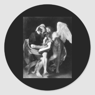Caravaggio St Matthew And The Angel Sticker