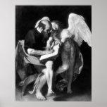 Caravaggio St Matthew y el ángel Poster
