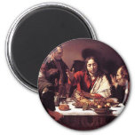 Caravaggio - Supper at Emmaus Refrigerator Magnets