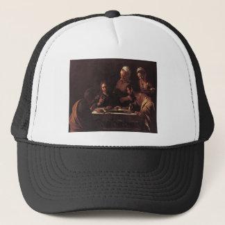 Caravaggio Supper At Emmaus Trucker Hat