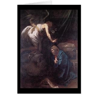Caravaggio The Annunciation Card