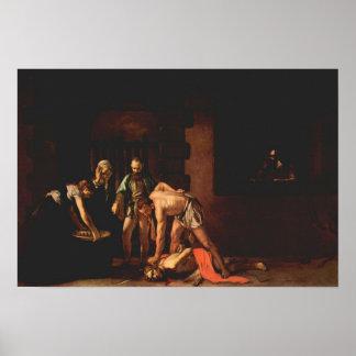 Caravaggio-The beheading of John the Baptist Print