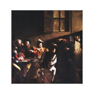 Caravaggio The Calling of Saint Matthew Canvas Print