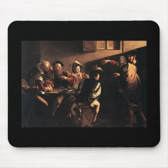 Caravaggio The Calling Of Saint Matthew Mouse Pad