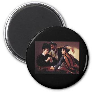 Caravaggio The Cardsharps 2 Inch Round Magnet