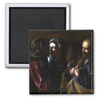 Caravaggio The Denial of Saint Peter Magnet